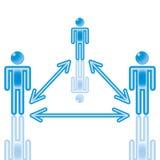 teamwork för 17 blue Royaltyfri Foto