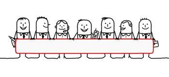 teamwork för blankt avstånd royaltyfri illustrationer