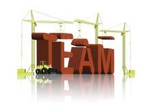 teamwork för byggnadssamarbetslag stock illustrationer