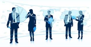 Teamwork för global affär Royaltyfri Bild