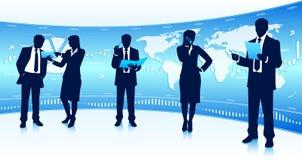 Teamwork för global affär Royaltyfria Foton
