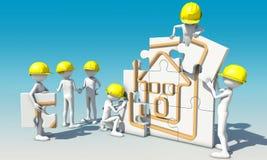 Teamwork för konstruktionsplats vektor illustrationer