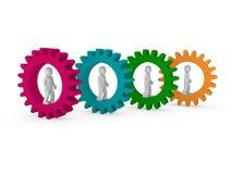 teamwork för kugghjul 3d vektor illustrationer