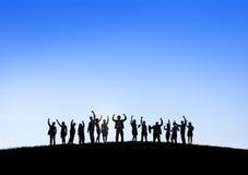 Teamwork för partnerskap för ockupation för affärssamarbetskollega arkivbild