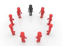 teamwork för person 3d Arkivbild