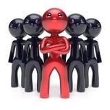 Teamwork-Führung stilisierte rote Charaktermann-Chefikone vektor abbildung