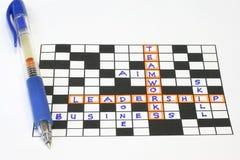Teamwork-Führungpuzzlespiel Lizenzfreies Stockfoto