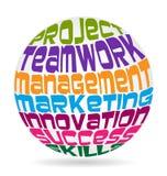 Teamwork fasst Bedeutung ab Lizenzfreie Stockbilder