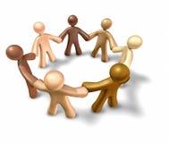 Teamwork fiendship getrennt auf weißem Hintergrund Stockfoto