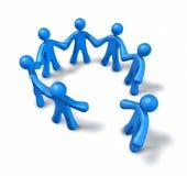 Teamwork fiendship getrennt auf weißem Hintergrund Lizenzfreie Stockbilder