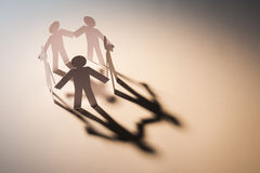 Teamwork of five team Stock Image