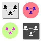 Teamwork. flat vector icon vector illustration