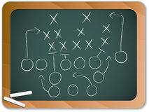 Teamwork Football Game Plan Royalty Free Stock Images