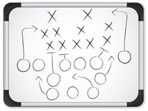 Teamwork Football Game Plan on Whiteboard royalty free stock images