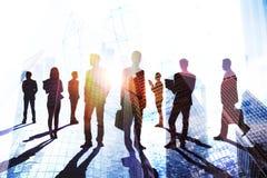 Teamwork-, framgång- och folkmassabegrepp royaltyfri illustrationer