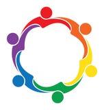 Teamwork friendship people logo Stock Photos