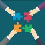Teamwork gör det dröm- arbetet Arkivfoton