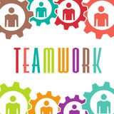 Teamwork gear people  image logo Royalty Free Stock Image