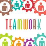 Teamwork gear people image logo royalty free stock image