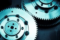 Teamwork gears background stock images
