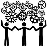 Teamwork with gears Royalty Free Stock Photo
