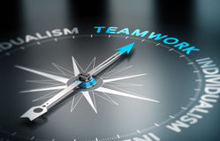 Teamwork gegen Individualismus Stockbild