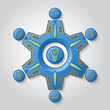 Teamwork Generates Ideas Royalty Free Stock Image