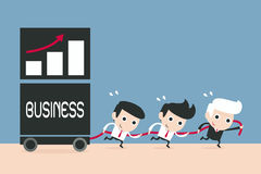 Teamwork-Geschäftsleute Stockbild