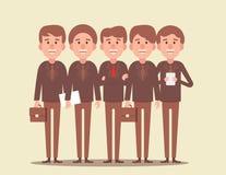 teamwork Geschäftsteam geführt vom Leiter Konzeptgeschäfts-Vektorillustration stock abbildung