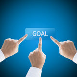 Teamwork go to the goal. Of business Royalty Free Stock Photography