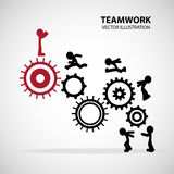 Teamwork Graphic Design royalty free illustration