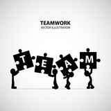 Teamwork Graphic Design stock illustration