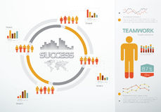 Teamwork graphs and charts. For business success Royalty Free Stock Photos