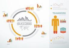 Teamwork graphs and charts Royalty Free Stock Photos