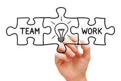 Teamwork Great Idea Puzzle Concept royalty free stock photo