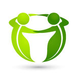 Teamwork green business people logo Royalty Free Stock Photography