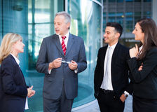 Teamwork: group of business people Royalty Free Stock Photos
