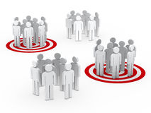 Teamwork group circle red tarbet Royalty Free Stock Images