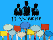 Teamwork Group Collaboration Organization Concept Royalty Free Stock Photos