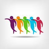 Teamwork.Group des Freunde Logobildes Stockfotos