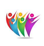 Teamwork group of people logo vector illustration