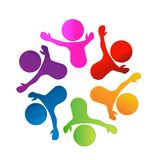 Teamwork group of people, working and having success logo. Design vector vector illustration