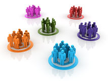 Teamwork Groups royalty free illustration