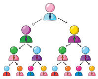 Teamwork growth. Group of people diagram , teamwork growth concept stock illustration