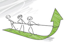 Teamwork, growth. Teamwork is work done by several associates with each doing a part but all subordinating personal prominence to the efficiency of the whole stock illustration