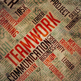 Teamwork - Grunge Wordcloud. Royaltyfri Foto