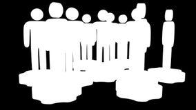 teamwork Gruppo di supporto stilizzato della gente sugli ingranaggi royalty illustrazione gratis