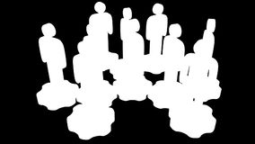 teamwork Gruppo di supporto stilizzato della gente sugli ingranaggi illustrazione vettoriale
