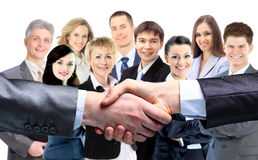Teamwork. Hand for a handshake Stock Image