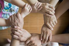 Free Teamwork Hand In Hand Concept Stock Photos - 122495333